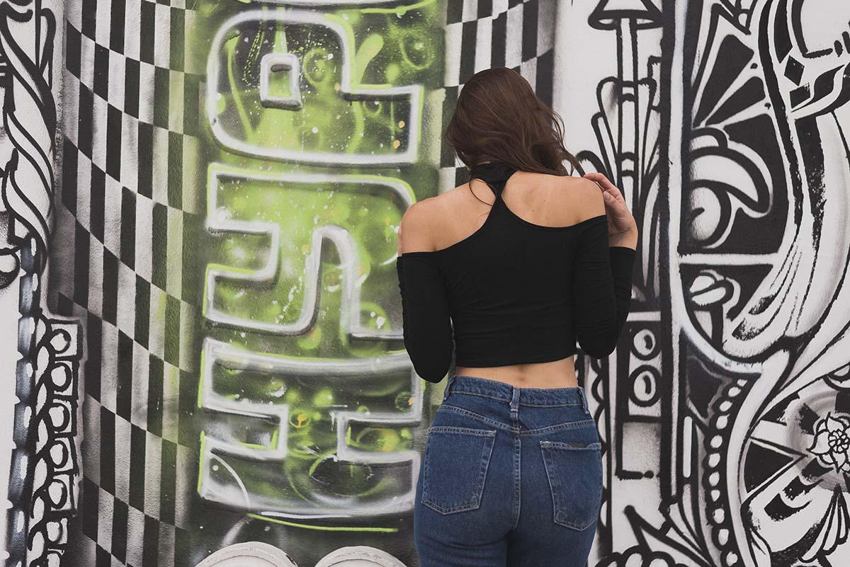 Ana Prodanovich visiting Wynwood Walls in Miami.