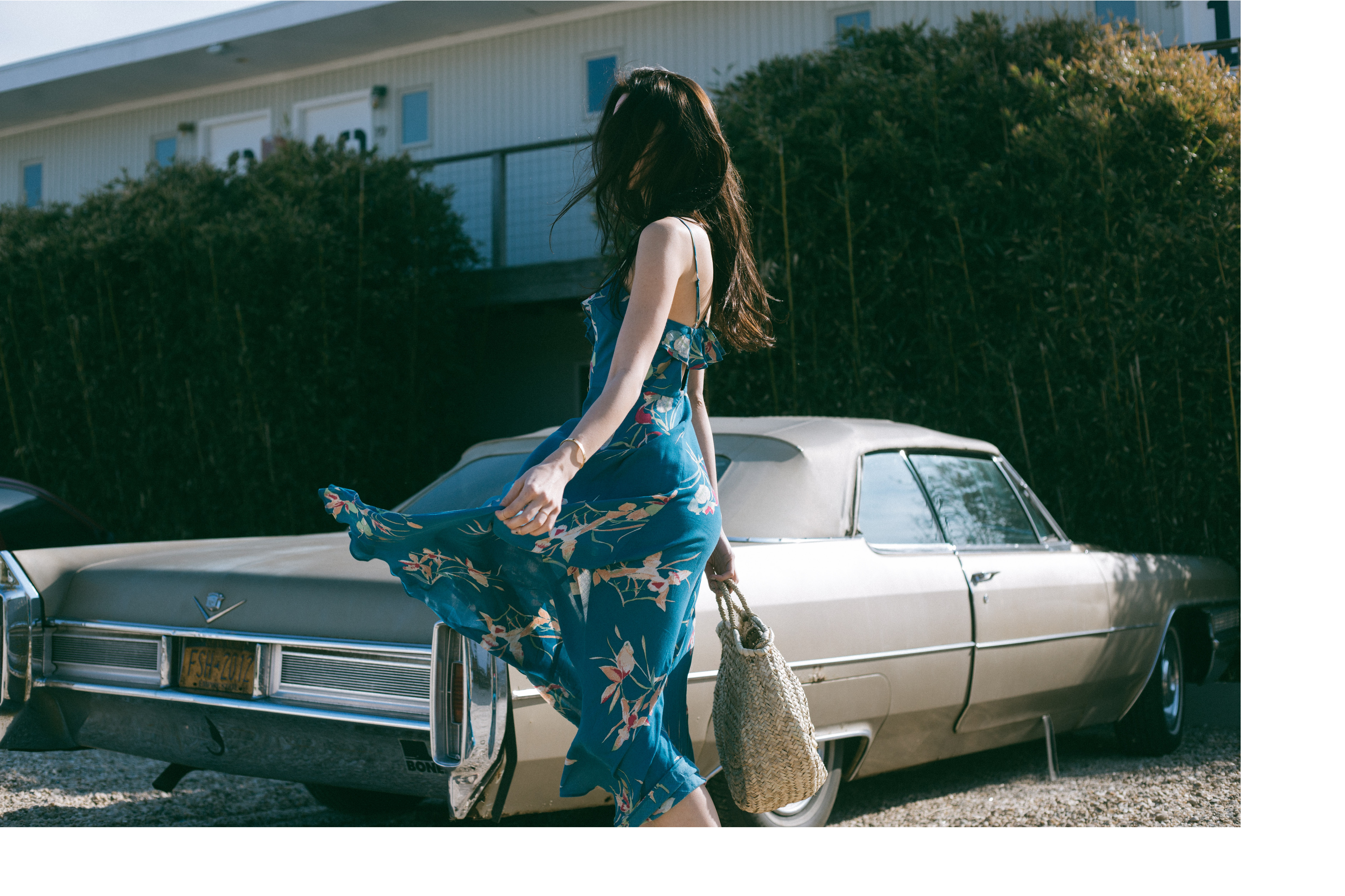 Ana Prodanovich's road trip to Montauk wearing Urban Outfitters.